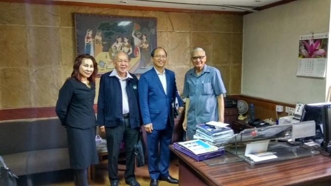 Malaysia 17.04.02 Hon. Datuk Seri Panglima WM Tangau, Minister MOSTI in DG Office